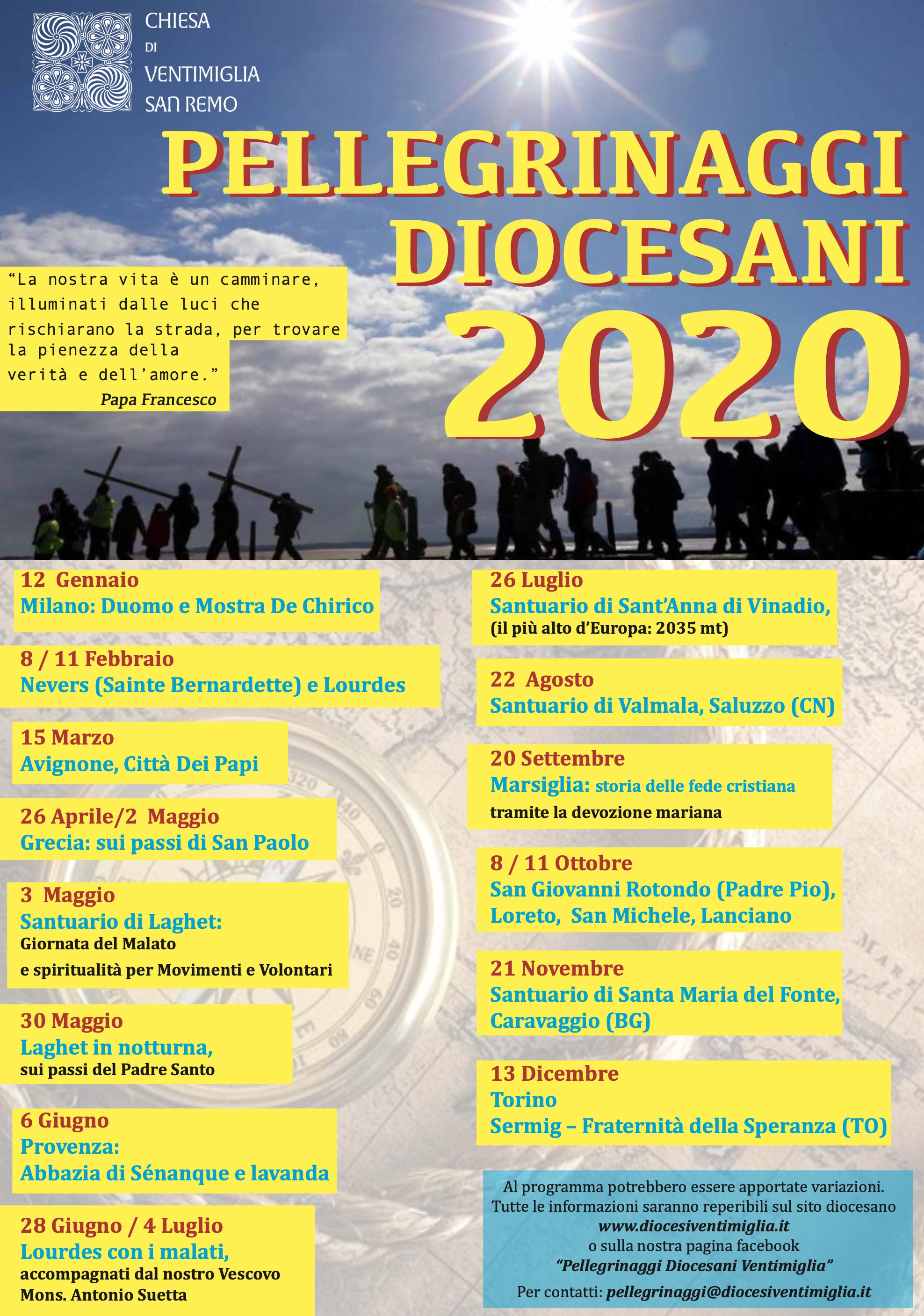 Pellegrinaggi 2020
